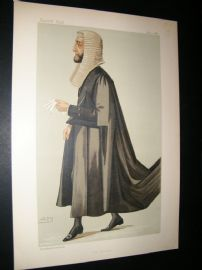 Vanity Fair Print 1887 Arthur Wellesley Peel, Legal Speaker
